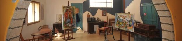הסטודיו של מרסל ינקו הסטודיו המקורי של מרסל ינקו, ובו ציורי קיר יחידאיים של האמן שנחשפו לאחר שנים ארוכות מתחת לשכבות של סיד